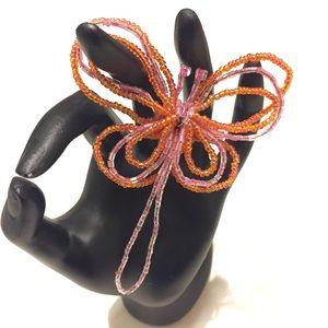 Jewelry - Pink & Orange Dragonfly Brooch / Pin